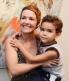 Joana Cesar e o filho Eduardo